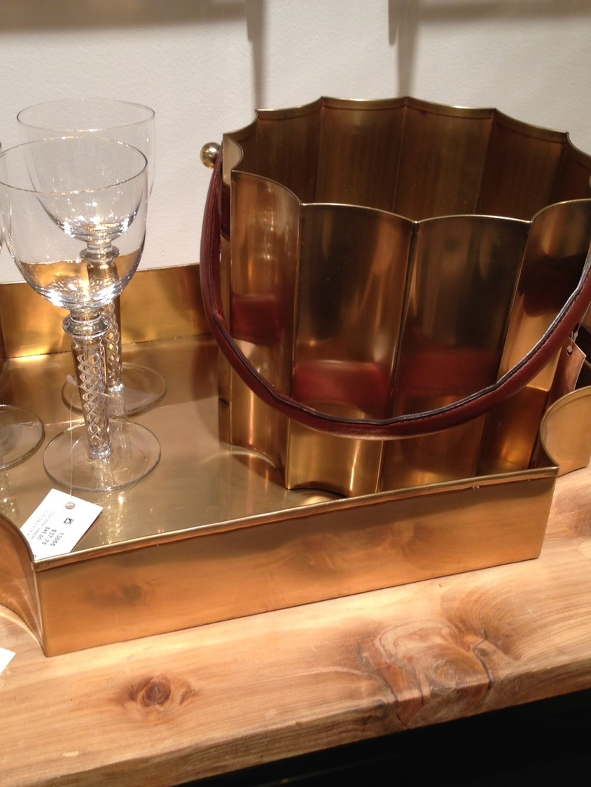 Brass tray and bucket by Go Home Ltd. | #LVmkt, best, home, decor, furniture, interior design