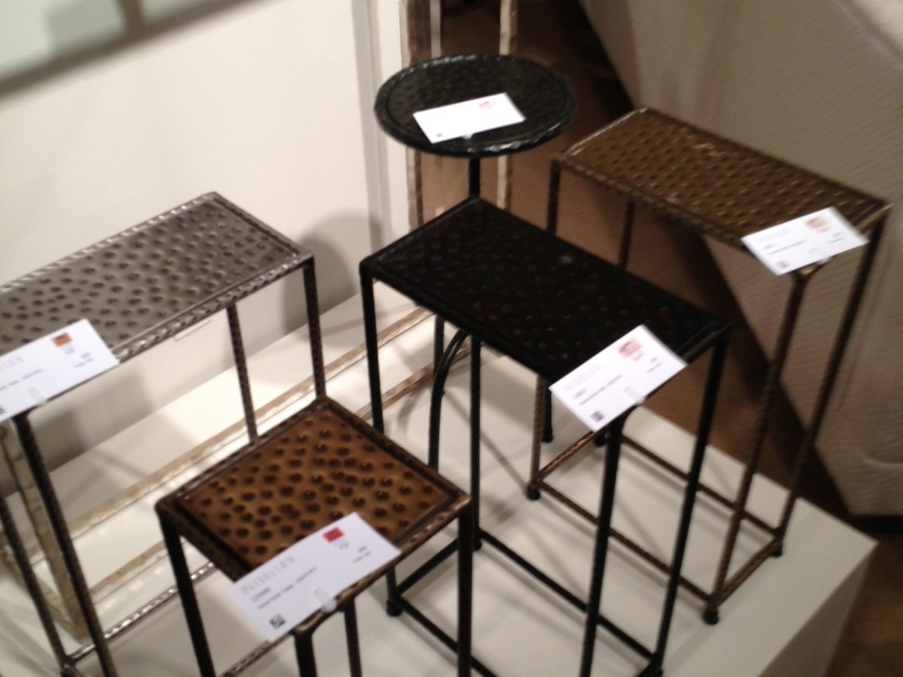 Tiny tables by Interlude.  | #LVmkt, best, home, decor, furniture, interior design