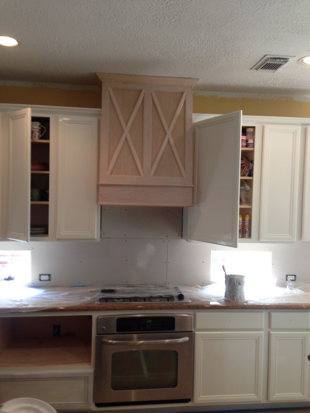 kitchen, before after, remodel, countertop, cream white,