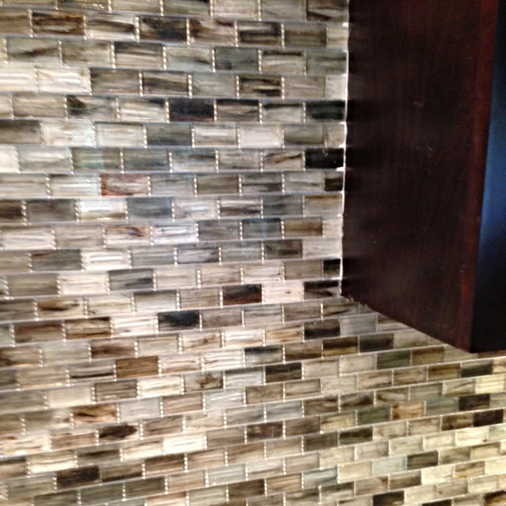 Walker Zanger Oceanside tile backsplash