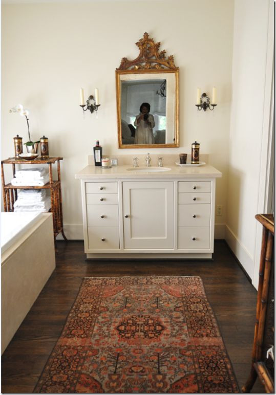 oriental rug, bathroom | Flooring by Armstrong
