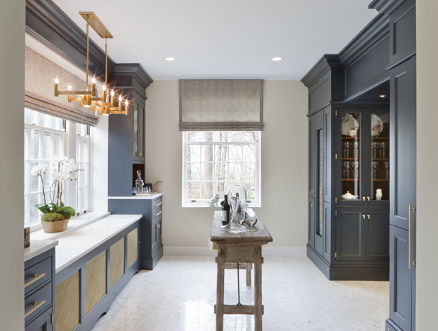 "MUST-????: AN UNUSED ROOM TRANSFORMS INTO THE ULTIMATE PARTY PREP PLACE  ➤ http://bit.ly/ZrUhHk | ""Kitchen designer Nadia Subaran crafts a butler's pantry fit for the next-level hostess and/or wine enthusiast."" 