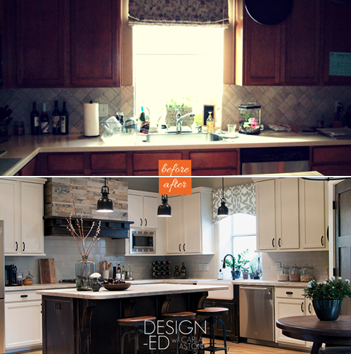 BEFORE & AFTER: A Tired Kitchen Is Awakened With A Coffee House Ambience