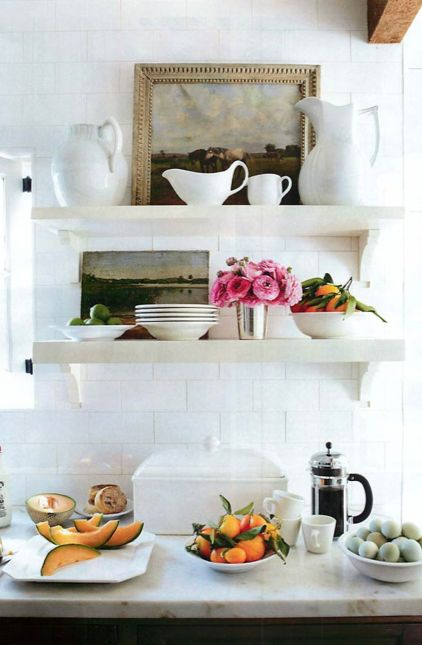 kitchen; vintage portrait; oil painting; wall decor; art arrangement | Interior Design -er: Chris Barrett