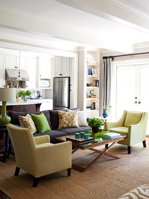living room; shades of one color | Coffee table by Wisteria