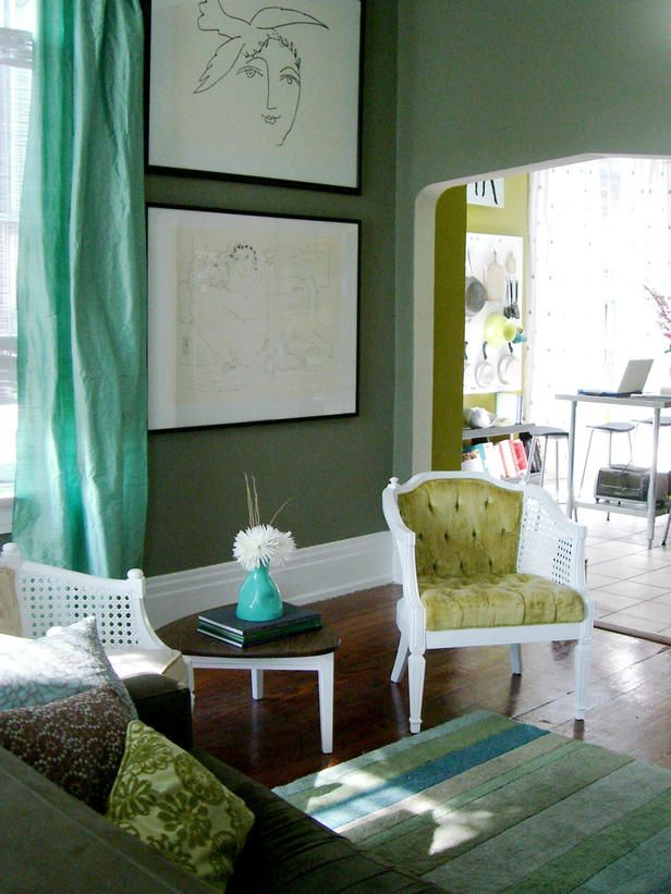green, sitting room, shades of one color | Interior design -er: Merskine