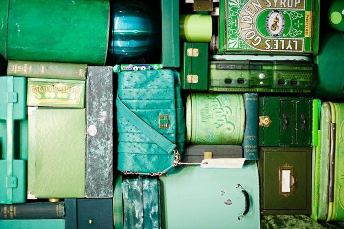 luggage; shades of one color | Photographer:  Anya Hindmarch