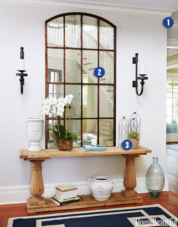 "MUST-KNOW: 3 EASY STEPS TO A WELCOMING ENTRYWAY  ➤ http://www.housebeautiful.com/decorating/home-makeovers/libby-langdon-entry-tips | ""Here are some tips from Libby Langdon at HB to help make your entryway fabulous."" 