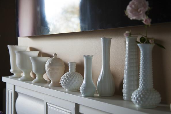 Decorate your mantel with vases. | Interior Designer: Juan Carretero