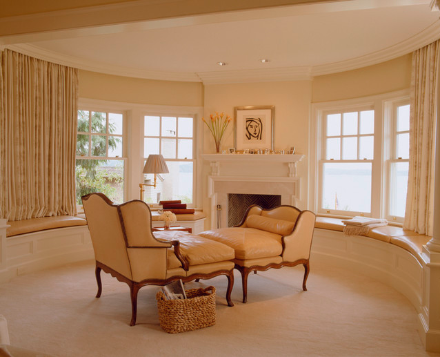 study; round room; best architecture, home interior design  Designer: Conard Romano Architects