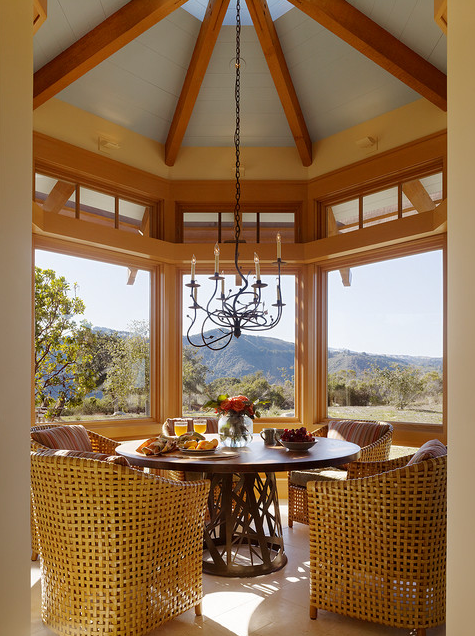 breakfast nook; round room; best architecture, home interior design | Interior Designer: ScavulloDesign Interiors