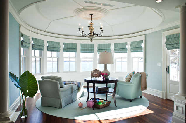 living room; round room; best architecture, home interior design | Interior Designer: Scott Sanders LLC