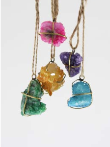 Caged Gem Ornament Set for your boho / bohemian Christmas tree! | Via Crate and Barrel