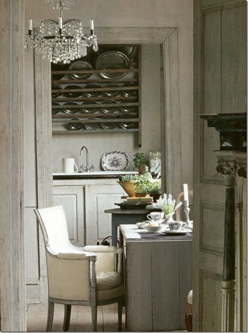 Decorate with, hang, pewter plates; dining room | Interior Design -er: Unknown. Please contact if this is your work so I can properly credit you. Thanks!