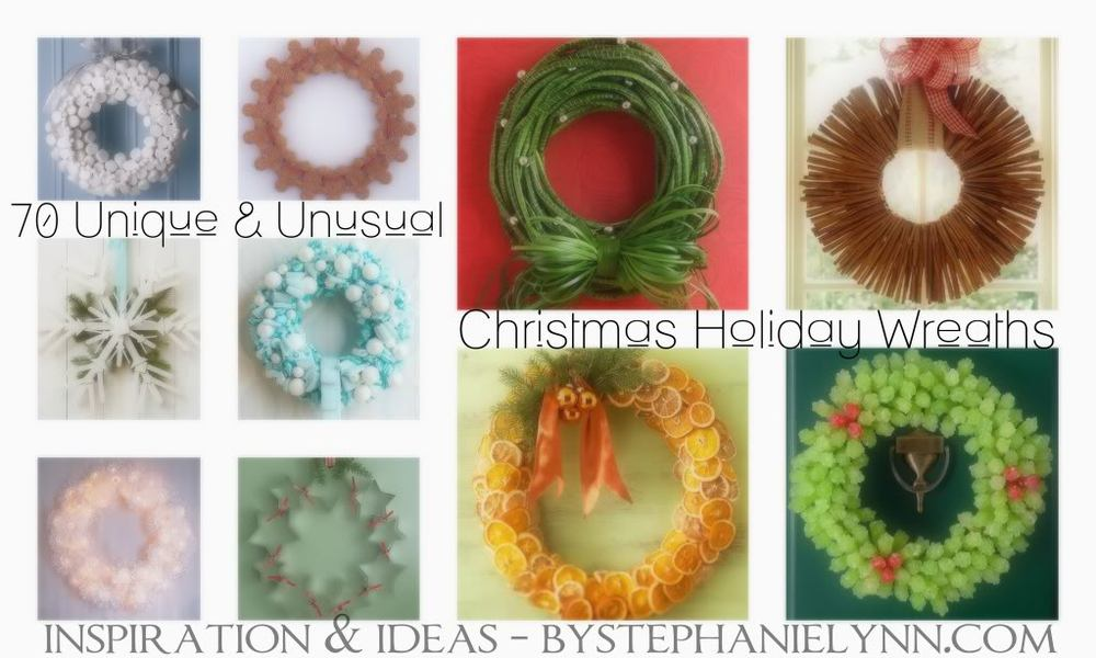 "MUST-DIY: 70 UNIQUE AND UNUSUAL CHRISTMAS HOLIDAY WREATHS  ➤ http://www.bystephanielynn.com/2011/11/70-unique-and-unusual-christmas-holiday-wreaths-saturday-inspiration-ideas.html | ""Have you seen this incredible wreath blogpost yet? If you want to see a beautiful potato wreath or a gorgeous brussel sprout wreath, I suggest you click through, asap. Really, they're all stunning and oh-so creative! "" 