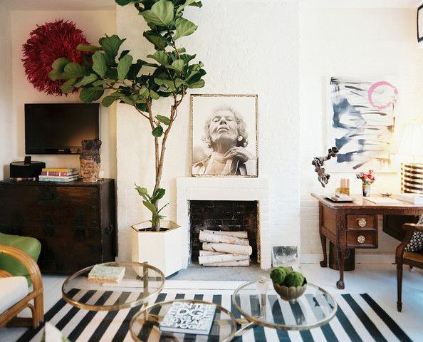"MUST-LOVE: A VICTORY LAP FOR THE STATEMENT-MAKING HOUSEPLANT WE'LL NEVER GET ENOUGH OF: THE FIDDLE LEAF FIG  ➤ http://www.lonny.com/Every+Fiddle+Leaf+Fig+Tree+from+the+Lonny+Archives | ""It's THE most popular houseplant in design: the fiddle leaf fig. Reason #1: It's sculptural (and designers love sculpture :-) Click through to check some out!"" 