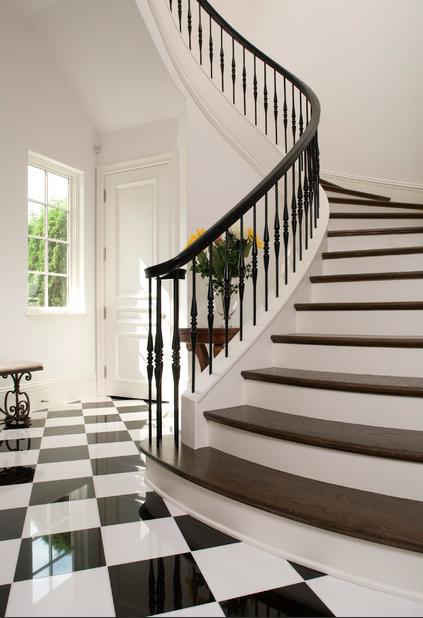 Striking silhouette; stairway Designer:John Kraemer & Sons