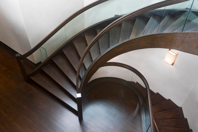 Striking silhouette; stairway| Architect:Charles Cunniffe Architects Aspen