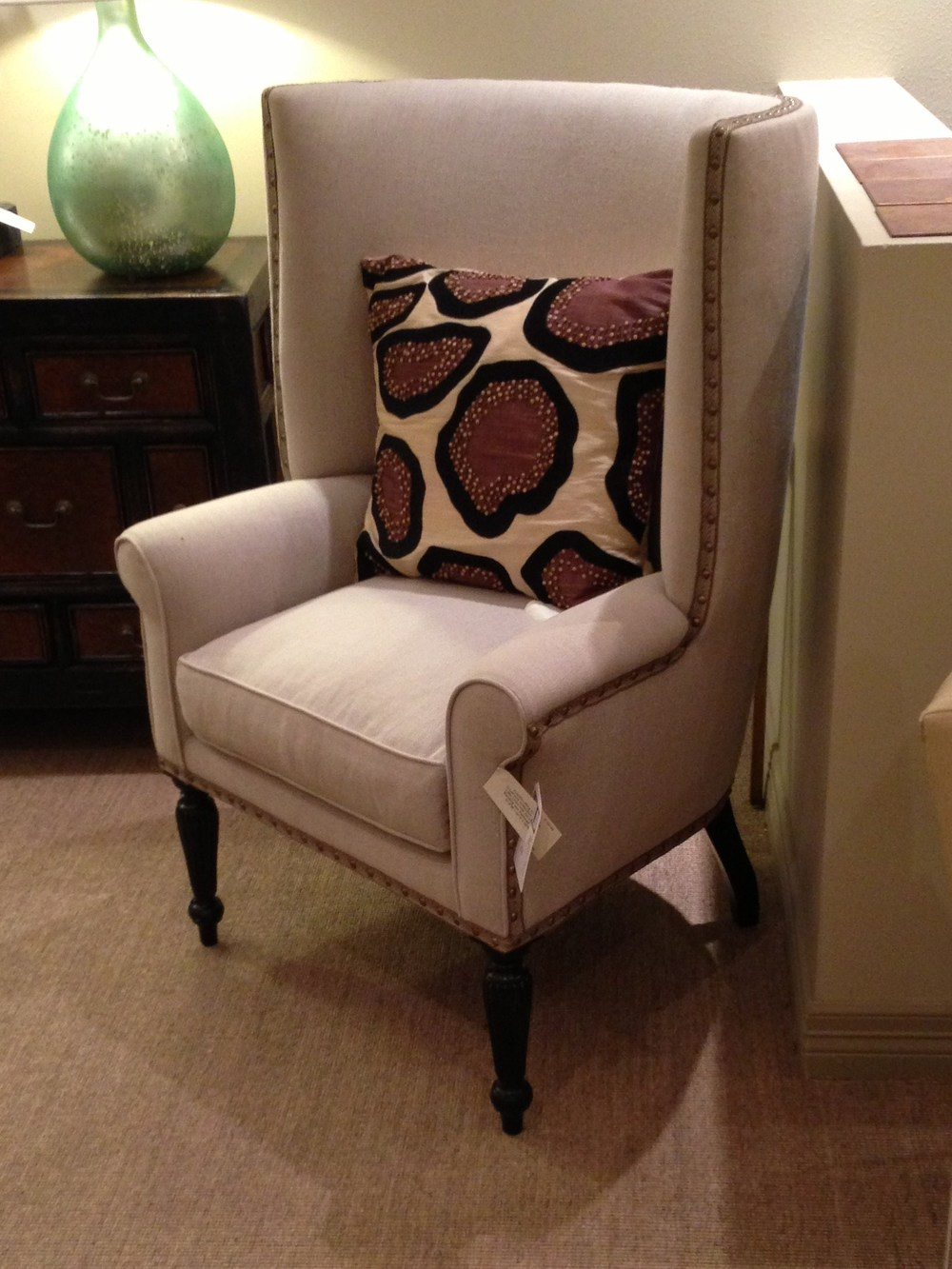 wing back chair for living room