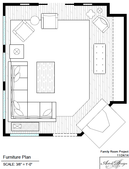 Here's the floor plan we used. Click to enlarge.