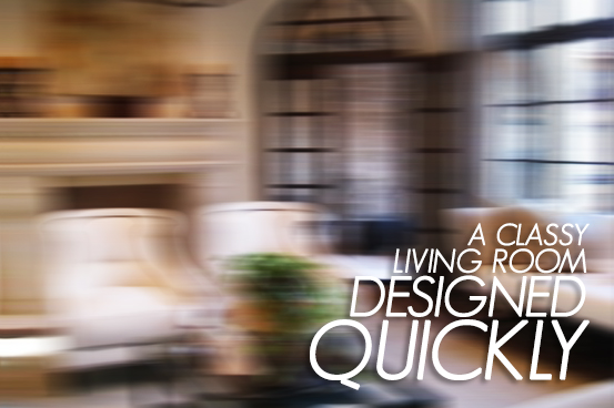 I did the best I could to satisfy my interior design client's request to remodel their living room with a classy style. Click through to see if I pulled through...