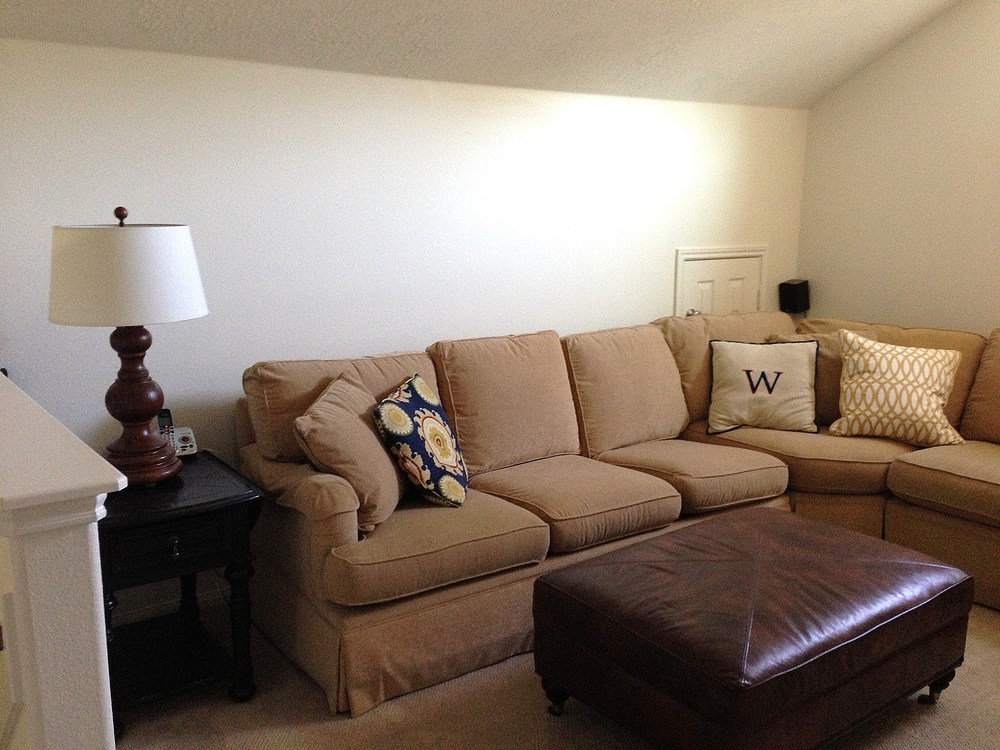 Interior design project: Update gold sofa / couch