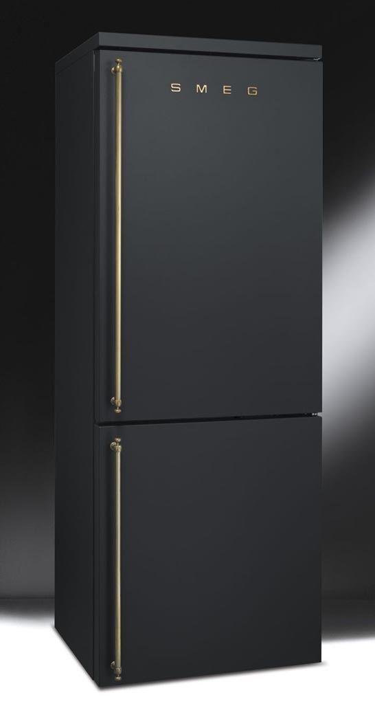 Black refrigerator | Made by Smeg USA