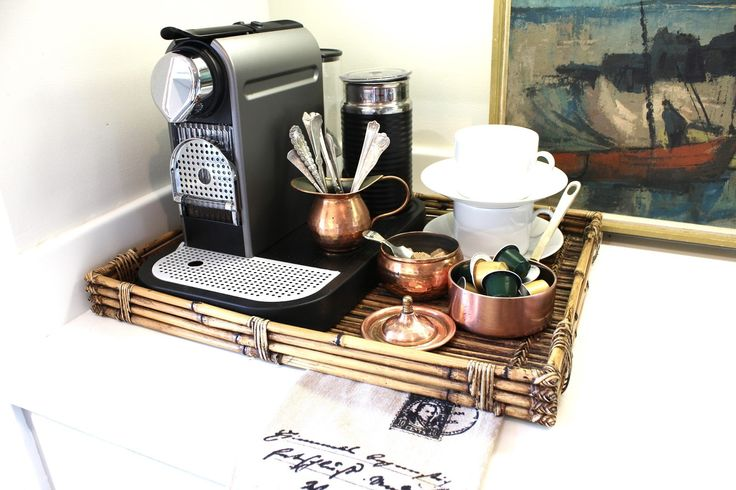 In-home/house coffee maker / bar / station | Interior design -er: Mary Ann Picket
