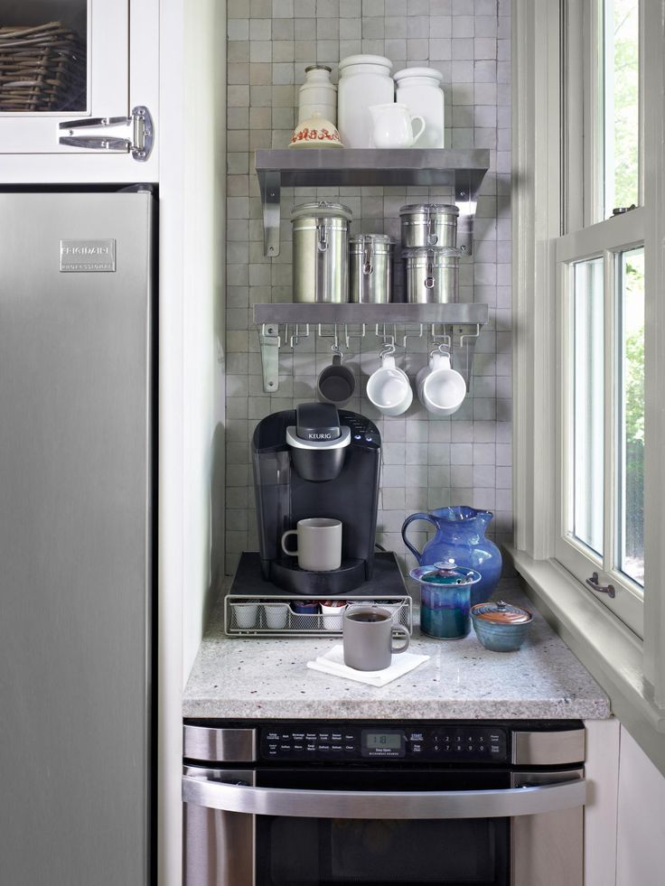In-home/house coffee maker / bar / station | Image source: Martha Stewart