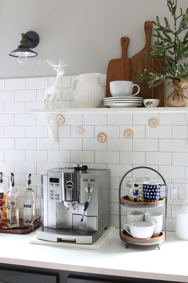 In-home/house coffee maker / bar / station | Image source: TheInspiredRoom.com