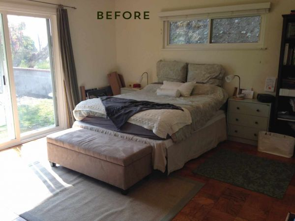 "MUST-SEE: Interior Inspiration: A Before and After Bedroom Makeover > http://www.bobvila.com/nation/post/before-and-after-bedroom-makeover-with-moss-and-coral-accents — I love to share remarkable before and afters. This is a good one was made remarkable by using wallpaper and beautifully made window treatments. These items can bring such sophistication and make your room and style  feel very ""grown up"". 