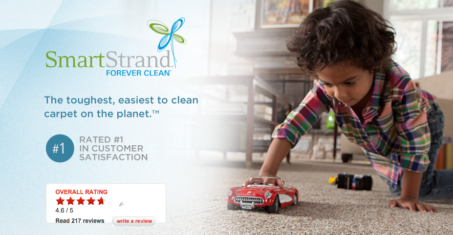 Interior designers are always looking for family/pet-friendly products. That's why I'm looking forward to seeing some great products from Karastan and Mohawk. One of which is their SmartStrand® Silk™ Forever Clean™, as it sounds like the perfect carpet for families with kids and pets. It provides a soft and comfy underfoot while still providing stain resistance.