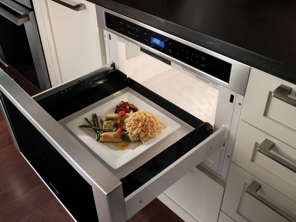 Under Counter Microwave For Easier Works: MUST-HAVE: Thermador's MicroDrawer Microwave, Reviewed