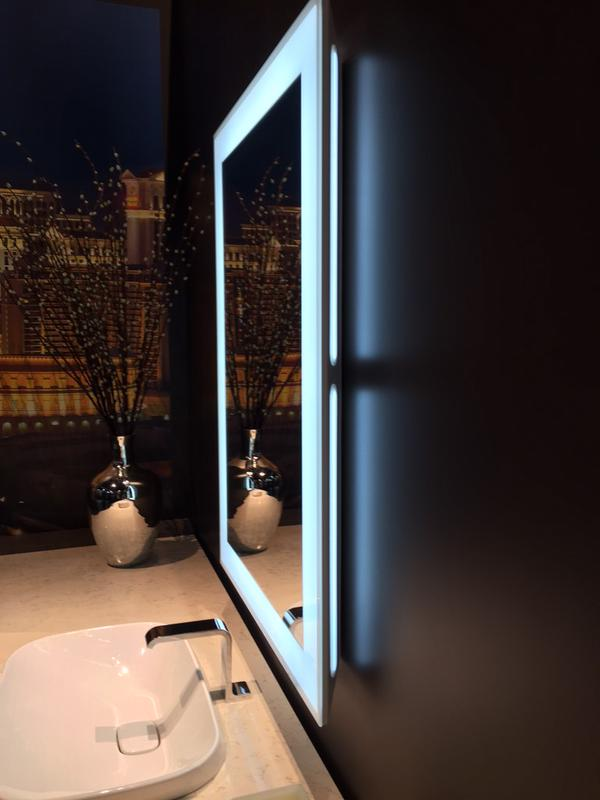 Beautifully lit mirrors @TOTOUSA #KBIS2015 #BlogTourVegas