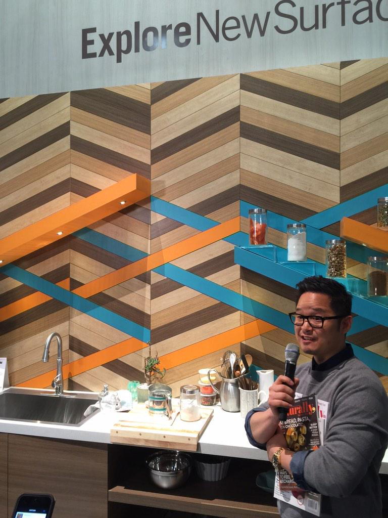 Fabulous wood look laminate from @Wilsonart #KBIS2015 #BlogTourVegas