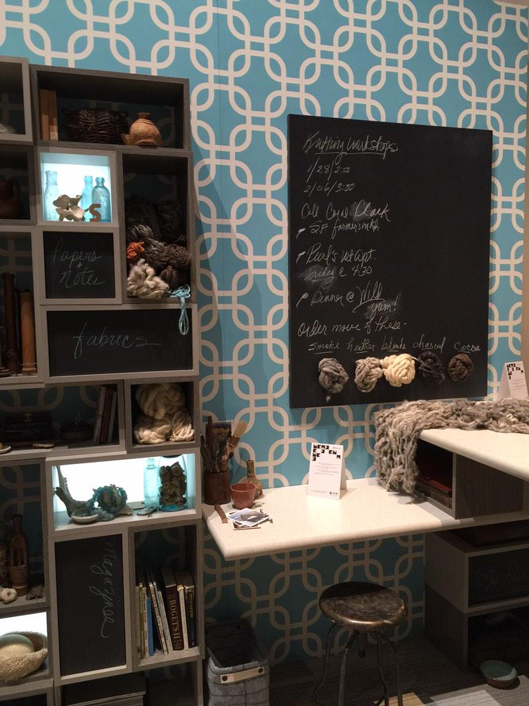 Love the blackboard laminate and the customizable patterns. @Wilsonart @KBIS2015 #BlogTourVegas