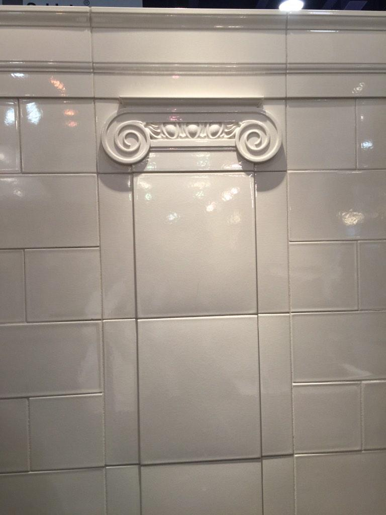 Guess who designed this tile! #KBIS2015 @WalkerZanger #IKnowYouKnow #BlogTourVegas