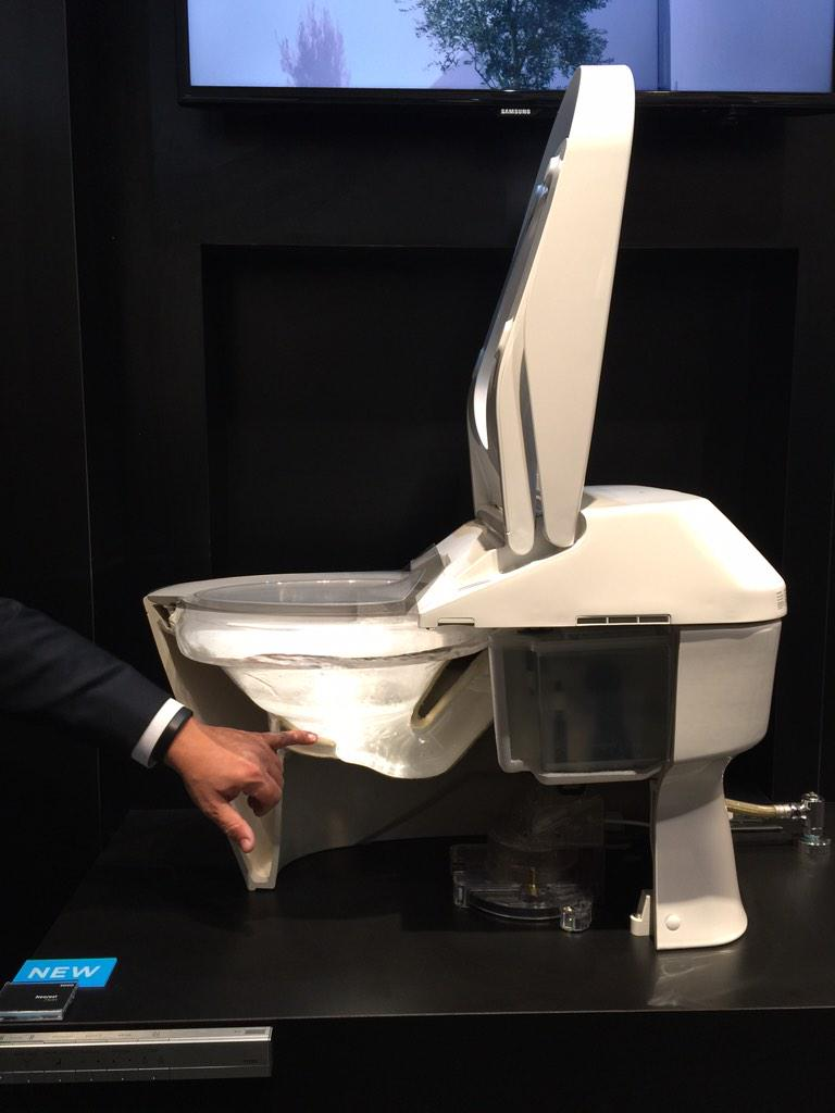 Learning all about the ultimate toilet, the Neorest, @TOTOUSA #KBIS2015 #BlogTourVegas