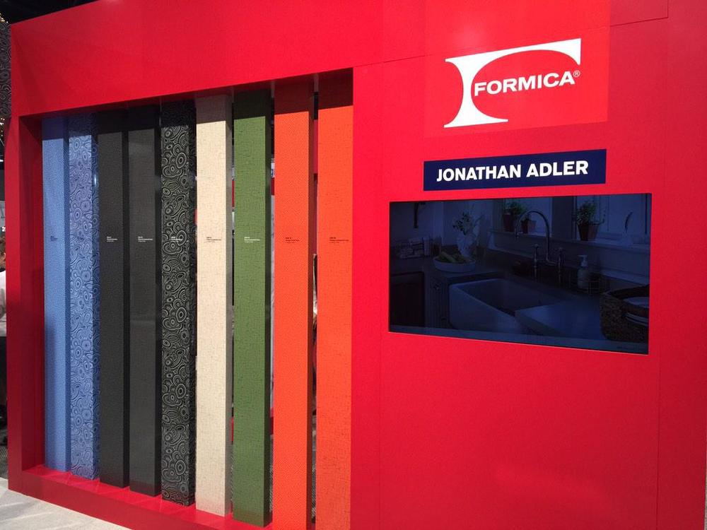 Plastic laminate has come a looooong way. @jonathanadler #KBIS2015 #BlogTourVegas