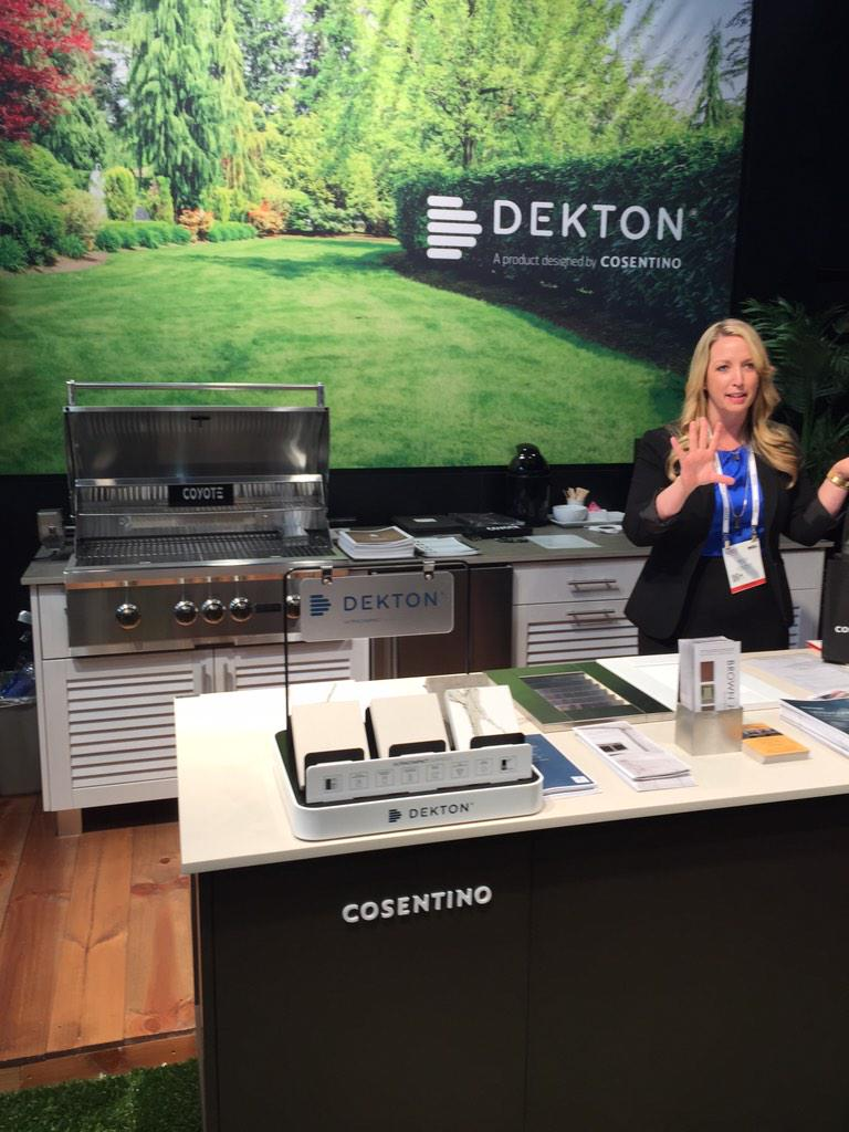 Need a beautiful, durable countertop for outdoors? Try @DektonUSA #KBIS2015 #BlogTourVegas