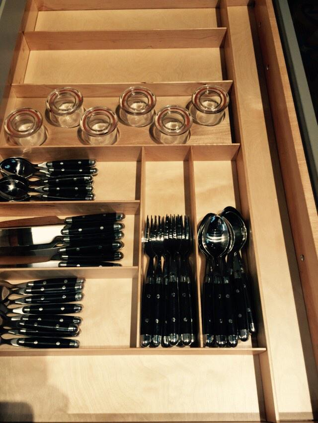 Beautifully crafted organization. How luxurious! @WoodMode  #BlogTourVegas #KBIS2015