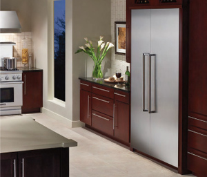 thermador integrated refrigerator. best of #kbis2015: thermador\u0027s freedom collection / refrigerator; freezer; kitchen appliance thermador integrated refrigerator