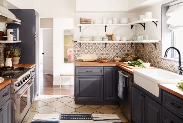 MUST-SEE:  The Most Beautiful Kitchen Backsplashes We've Ever Seen  >  http://www.domainehome.com/statement-kitchen-backsplash/  —  Need some kitchen backsplash inspiration? Try these. And see if you can spot the trend within. I can. (More on that later.;-)  | Interior Designer: Emily Henderson