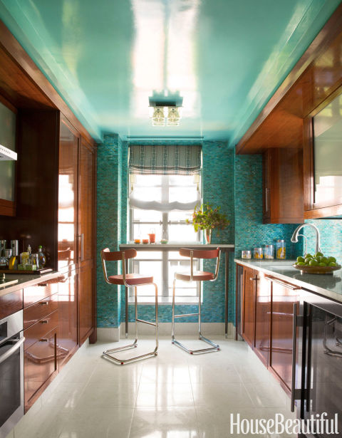 MUST-SEE:  17 Small Kitchens to Inspire You  >  http://www.housebeautiful.com/room-decorating/kitchens/g394/small-kitchens/  —  No one ever grows tired of being inspired by beautiful kitchen design. So, as a primer for a gorgeous small kitchen I'll be sharing with you next week, here's a collection of cooking spaces that's sure to entice excitement towards what's in store for you on the other side of this weekend. ;-)  | Image Source: House Beautiful / Interior Designer: Phillip Gorrivan