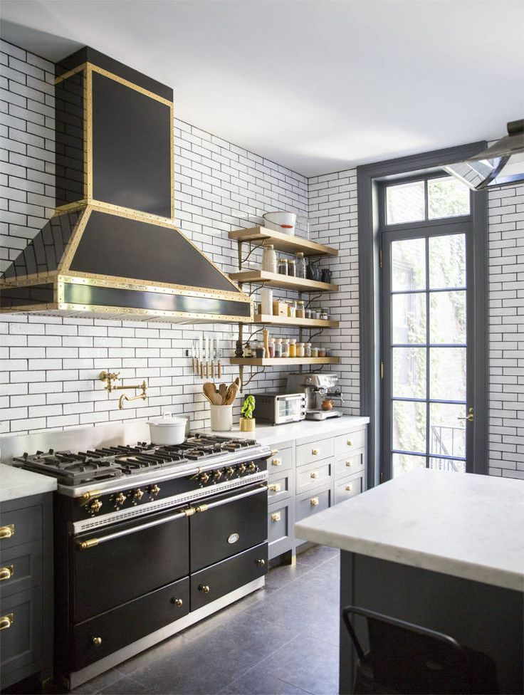 Tile backsplash trend  , interior design, kitchen backsplash, color, lighting   | Homeowner:   Alison Cayne  of  Haven's Kitchen