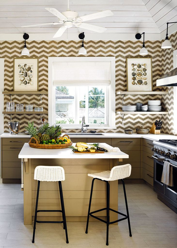 Tile backsplash trend  , interior design, kitchen backsplash, color, lighting  | Interior Designer:   Alessandra Branca