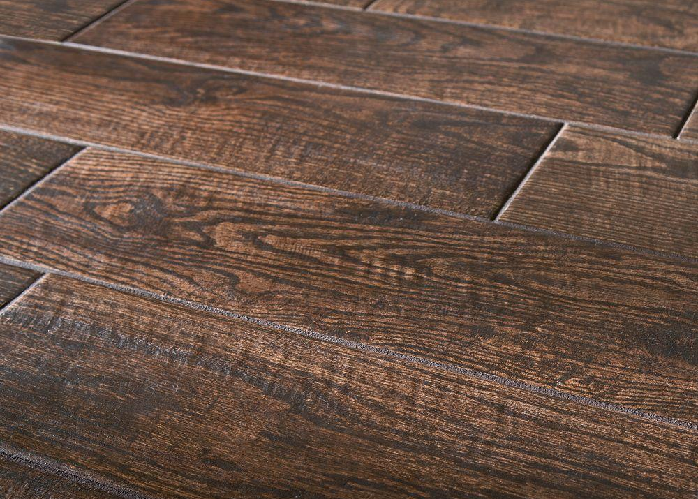 Natural wood floors vs wood look tile flooring which is for Tile and hardwood floor
