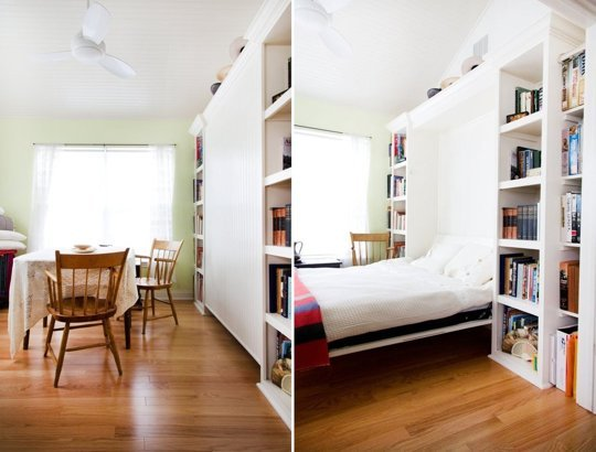 MUST-KNOW: Small Space Living: Why These Small Rooms Are Successful > http://www.apartmenttherapy.com/small-space-living-4-bold-things-successful-small-rooms-have-that-really-work-wow-211881 — Speaking of small space solutions... I found some very useful tips at this link. I totally agree with the first piece of advice about how it is, in fact, possible to go dark in a small room. Also, I love how the walls, mouldings, and ceiling were all the same, making the room feel cocooned and the envelop not be divided.  | Homeowners: Carol Stall Thomas and Phil Thomas
