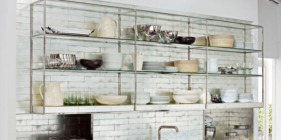 MUST-KNOW:  The Pros and Cons of Open Shelving  >  http://www.housebeautiful.com/home-remodeling/interior-designers/a3469/open-shelving-tips/   —  In my post about small spaces (above), I mentioned how we're about to include open-shelving in a project we're currently planning. If you're wanting to hear more about the pros and cons of open-shelving in the kitchen, Scot Meacham Wood dishes them out in House Beautiful.  | Interior Designer: Scot Meacham Wood