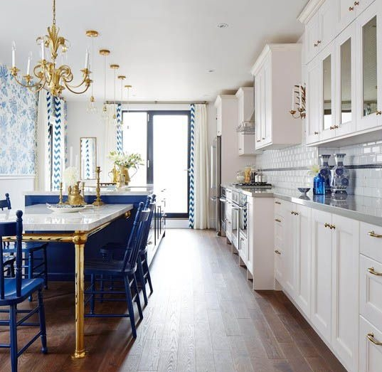 MustHave Furnishings Decor Colored In Vivid Cobalt Blue - Accent color for grey and white kitchen
